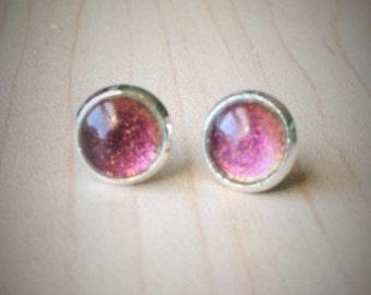 Dichroic Style Stud Earrings
