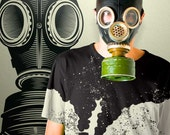 Vintage Gas Mask Wall Decal Steampunk Toxic Biohazard Radioactive Cosplay Military Hazardous Nuclear Zombie Gothic Decal by Blazing Vault