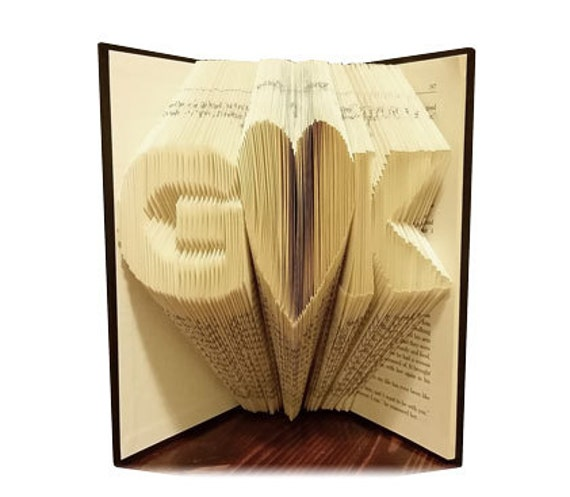 Book Art Wedding Gift : Folded Book ArtAnniversary GiftWedding GiftFREE SHIPPING ...