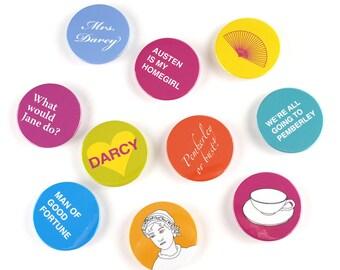 Jane Austen magnet set of 10
