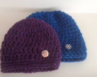 Crocheted child's hat