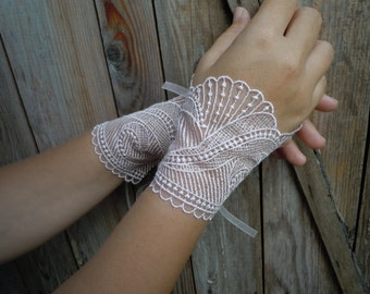 Pink Cuffs,  Pink wedding Gloves, bridal gloves, bridal cuffsi wedding cuff