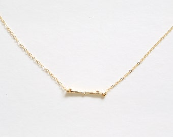 Gold Twig Necklace // Silver Twig Necklace // Layering Necklace // Layering Set // Long and Layered // Bridesmaid gift // Gift for her