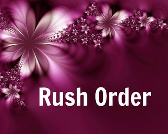 Rush orders for 1-3 items