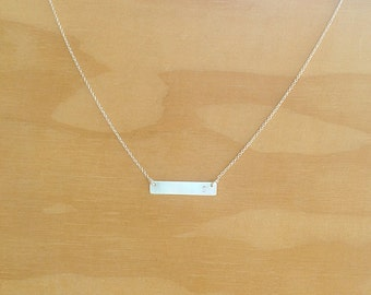 Sterling Silver Name Plate Necklace