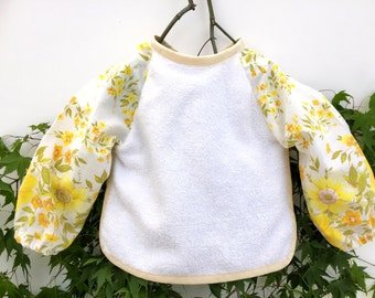 Long sleeve bib baby sleeve saver