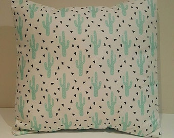 Cushion Cover - Teal Cactus