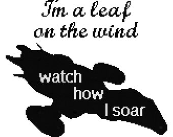 I'm a Leaf on the Wind Cross Stitch Pattern [Firefly / Serenity]