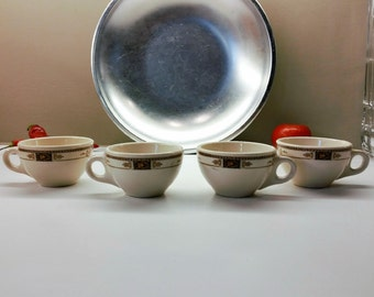 1950's SYRACUSE SYRALITE WEBSTER Pattern Vintage Restaurant China 4 Cups
