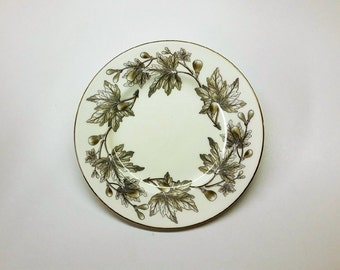 WEDGEWOOD BONE CHINA Vintage Salad Plate Ashford Gray Circa 1950's - 1960's