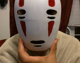 No face mask, cosplay, spirited away, 3D printed and hand painted