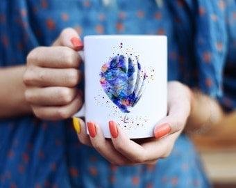 Hot Air Balloon Mug - Affordable Art Mug - Coffee Mug - Watercolor Mug - Colorful Tea Mug