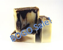 BAR SOAP Mocha Mint Cold Process Bar Soap * Light Smell so BOGO free! * Moisturizing * Sale Price Homemade Swirled Bar Soap