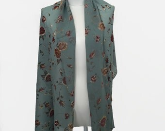 Floral 90s Multiwear Wrap Scarf with Beading by Romerecci