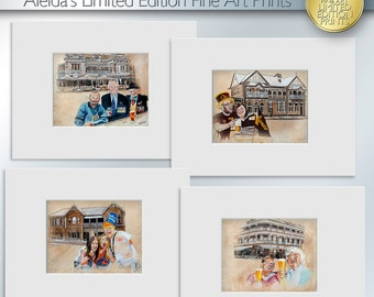 Iconic Brisbane Pubs - Set of 4 Limited Edition Art Prints (Series A/1)