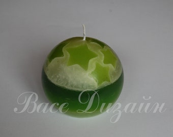 Hand made green candle.Candles.Handmade candles.Christmas candle.Decor home