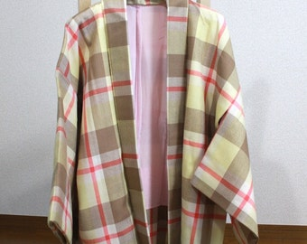 Warm jacket of the lattice pattern