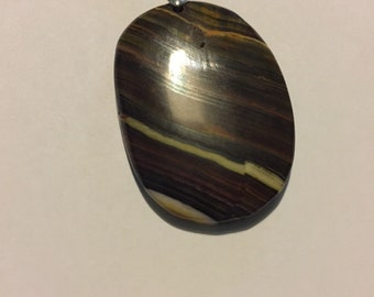 Beautiful natrual picture agate pendant
