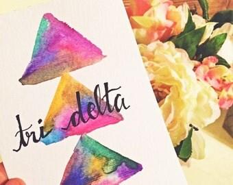 Tri Delta Watercolor