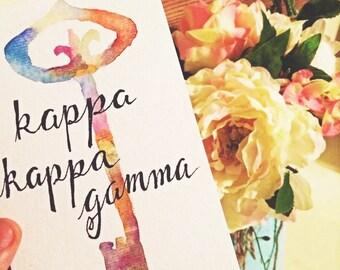 Kappa Kappa Gamma Watercolor