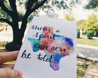 Spirit That Can Ne'er Be Told Watercolor