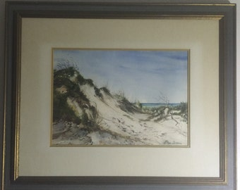 Gulf Coast Artist Watercolor Beach Sand Dunes Gulf of Mexico Seaside Florida Etoyle Sermons