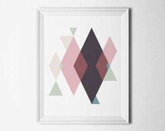 Modern digital print Abstract wall decor art Instant print geometric Poster download Living room wall art printable Office print decor