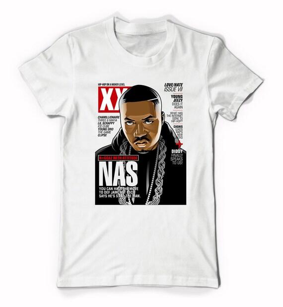 nas xxl magazine cover t shirt life is good illmatic album