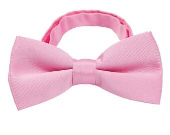 Pink Bow Tie.Wedding Bow Ties. Pink Silk Bow Ties. Mens Bowties.