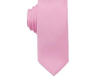Pink Wedding Ties. Pink Silk Ties. Silk Skinny Ties. Mens Necktie.