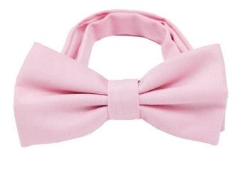 Pink Wool Bow Ties.Solid Wool Bowties.Mens Bow Ties.Winter/Fall Wedding