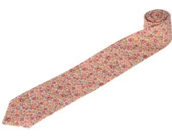 Milos Floral Necktie.Liberty of London Tie.Mens Wedding Tie.Novelty Tie.Mens Gifts.