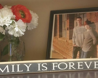 Family is Forever shelf decor