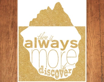 There is Always More to Discover Printable, Gold, Glitter