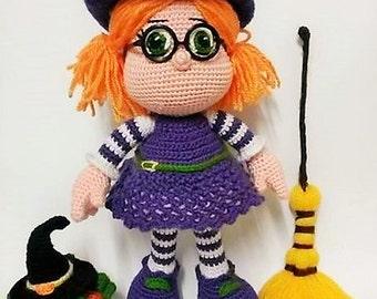 CUTE LITTLE WITCH Amigurumi Crochet van HappyKidsAmigurumi ...