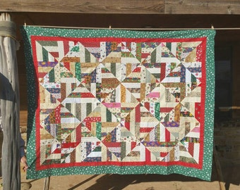 Christmas quilt top 57x73