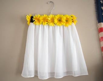 Upcycled Sunflower Skirt