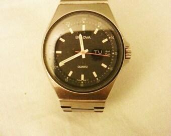 Vintage watch, vintage men watch, Vintage Bulova watch, Bulova watch, men wrist.