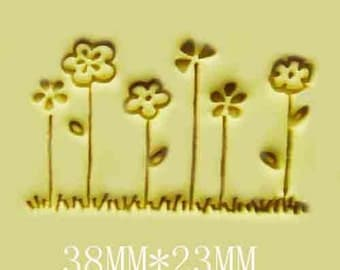 Little Flowers Resin Stamp Soap Stamps Resin Seal Stamp Cookies Stamp Candy Stamp