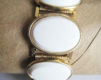 Gold Tone & White Bracelet
