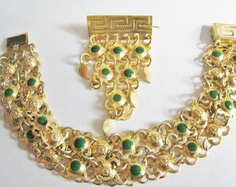 Bracelet & Pin Set