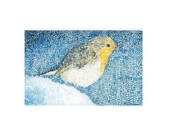 Robin - original watercolor print