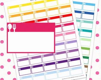 Meal Planning/Dinner Half Boxes || Printable Planner Stickers || Instant Digital Download