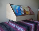 Record Storage and Display with Hairpin Legs