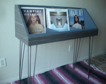 Record Storage Custom Display with hairpin legs