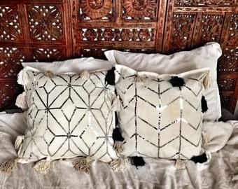 COVER of geometric cushion beige/ecru