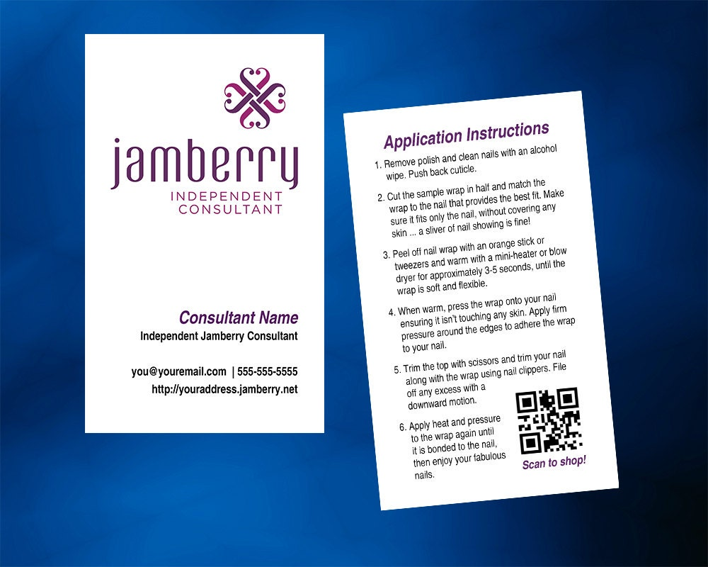 Jamberry nails business card vertical with optional back zoom magicingreecefo Image collections