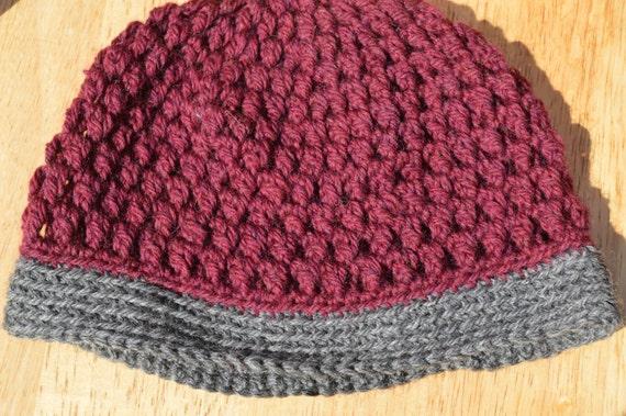 Adult Crochet Hat for Women, Purple Crochet Hat, Red Crochet Hat, Gift for Her, Winter Beanie, Winter Fashion Beanie, Handmade Beanie, Hat