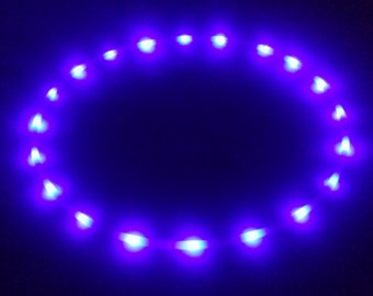Nocturnal LED Hula Hoop 20 PurpleUV(blacklight) Solid Color LEDs - Rechargeable Li-Ion