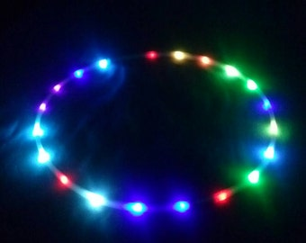Rainbow Blinky LED Hula Hoop - Rainbow Blinky Color Changing LEDs - Rechargeable Li-Ion